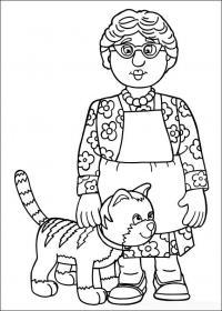 Бабушка с котиком