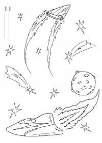 Раскраска. день космонавтики