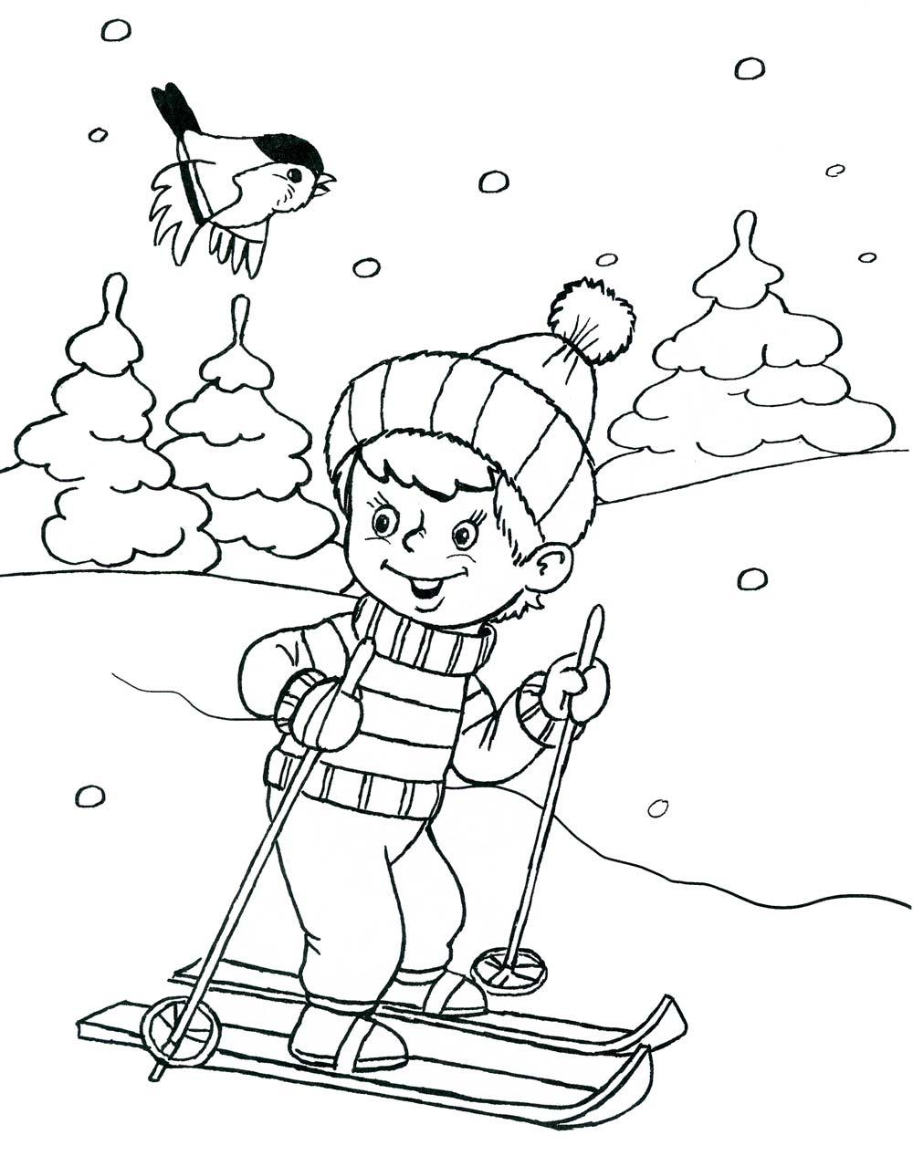 рисунок зимний вид спорта для сада пост-постмодерн