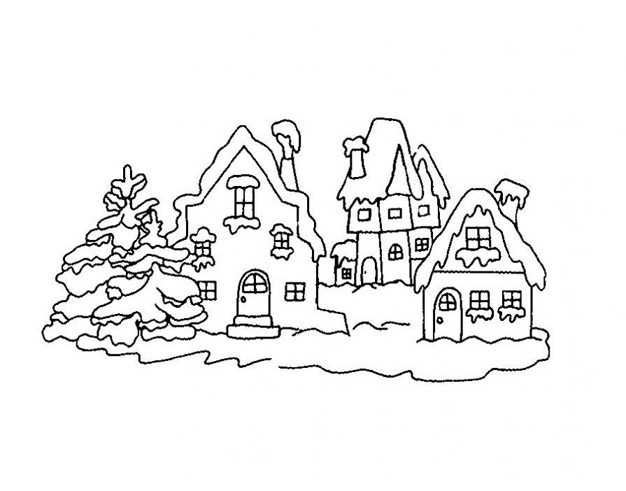 новогодние дома картинки трафареты дамам рекомендовалась особая